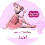 Angelina Ballerina Round Edible Cake Topper (B)