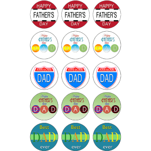 Fathers Day Edible Cupcake Toppers #1