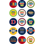 Fathers Day Edible Cupcake Toppers #2