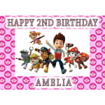 Paw Patrol All Characters Rectangle Edible Cake Topper #1