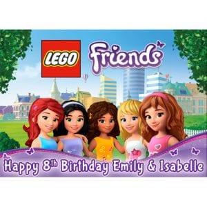 Lego Friends Rectangle Edible Cake Topper