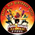 Power Rangers Round Edible Cake Topper