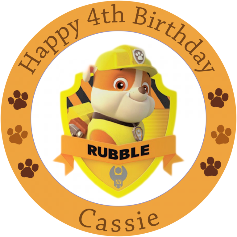 Paw Patrol Rubble Badge