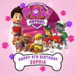 Paw Patrol Square Edible Cake Topper #1