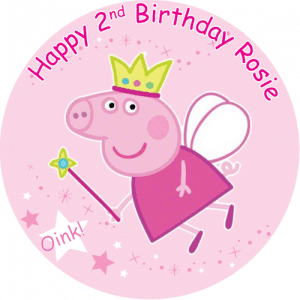 Peppa Pig Round Edible Cake Topper (C)