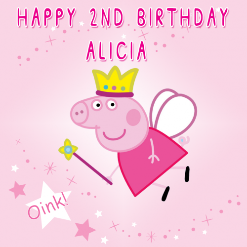 Stupendous Peppa Pig Sweet Tops Personalised Edible Cake Toppers And Funny Birthday Cards Online Overcheapnameinfo