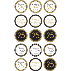 25TH Birthday Edible Cupcake Toppers