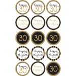 30TH Birthday Edible Cupcake Toppers