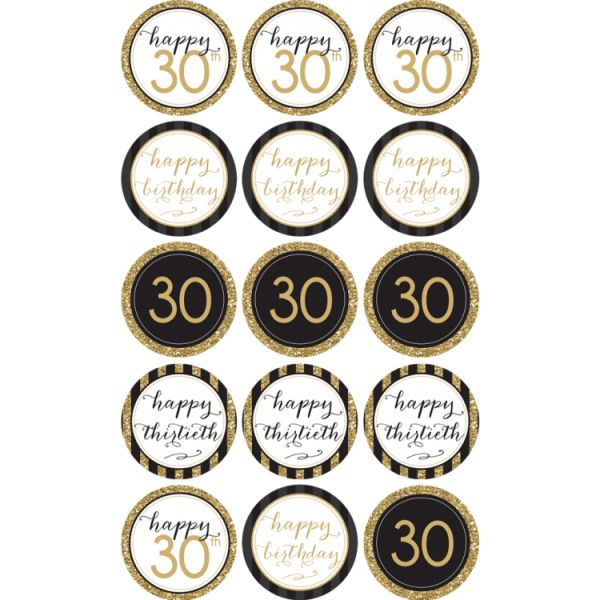 30TH Birthday Cupcake Toppers