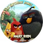 Angry Birds Movie Round Edible Cake Topper