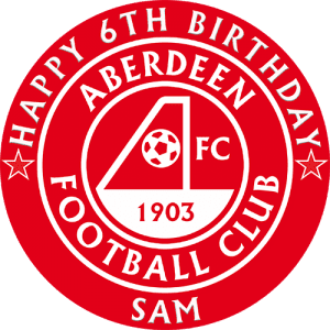 Aberdeen Football Club Round Edible Cake Topper