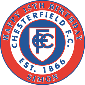 Chesterfield Football Club Round Edible Cake Topper (A)