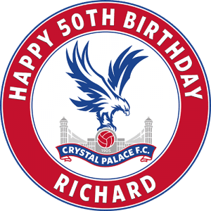 Crystal Palace Football Club Round Edible Cake Topper