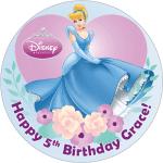 Disney Princess Round Edible Cake Topper (C)