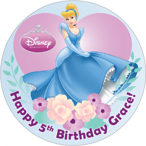 Disney Princess Round Edible Cake Topper (C)
