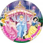 Disney Princess Round Edible Cake Topper (D)