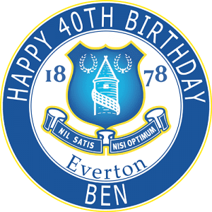 Everton Football Club Round Edible Cake Topper