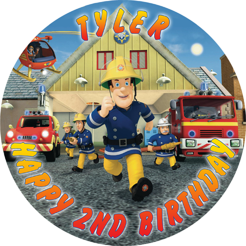 Fireman Sam Round (A)