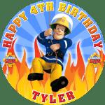 Fireman Sam Round Round Edible Cake Topper (B)