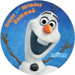 Frozen Olaf Round Edible Cake Topper