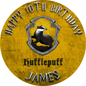 Harry Potter Hufflepuff Round Edible Cake Topper