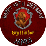 Harry Potter Gryffindor Round Edible Cake Topper
