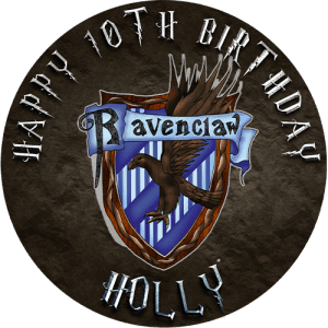 Harry Potter Ravenclaw Round Edible Cake Topper