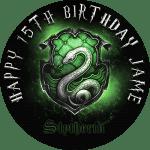 Harry Potter Slytherine Round Edible Cake Topper