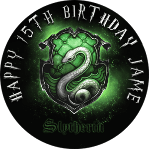 Harry Potter Slytherine Round Edible Cake Topper