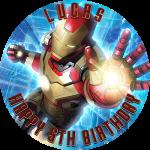 Iron Man Round Edible Cake Topper