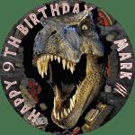 Jurassic Park (T-Rex) Round Edible Cake Topper