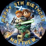 Lego Star Wars Round Edible Cake Topper