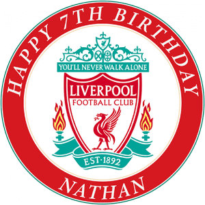Liverpool Football Club Round Edible Cake Topper