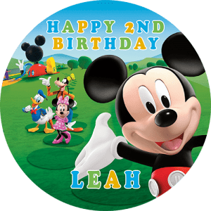 Mickey Mouse Clubhouse Round Edible Cake Topper