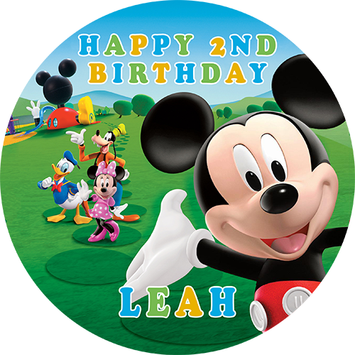 Mickey Mouse Clubhouse | Sweet Tops - Personalised, Edible ...