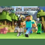 Minecraft Rectangle Edible Cake Topper
