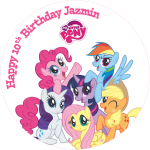 My Little Pony Round Edible Cake Topper (B)