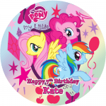My Little Pony Round Edible Cake Topper (C)