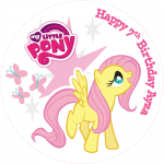 My Little Pony Round Edible Cake Topper (D)