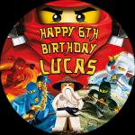 Lego Ninjago Round Edible Cake Topper