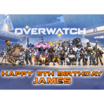 Overwatch Rectangle Edible Cake Topper