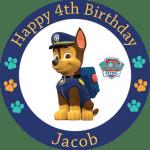 Paw Patrol Chase Round Edible Cake Topper #2