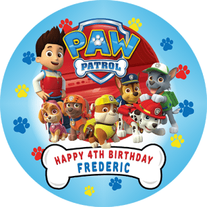 Paw Patrol Round Edible Cake Topper #1