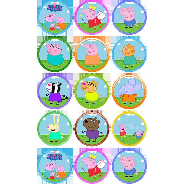 Peppa Pig (15X 2″) or (30X 1.5″) Cupcakes | Sweet Tops ...