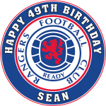 Rangers Football Club Round Edible Cake Topper
