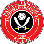 Sheffield United Football Club Round Edible Cake Topper