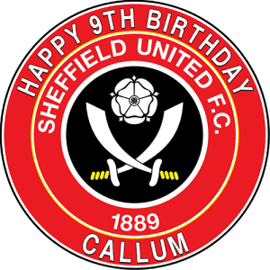 Sheffield United Football Club Round Edible Cake Topper