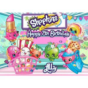 Shopkins Rectangle Edible Cake Topper