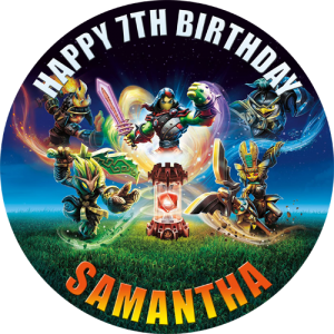 Skylanders Imaginators Round Edible Cake Topper