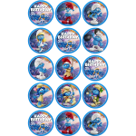 Smurfs Edible Cupcake Toppers